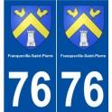 76 Franqueville-Saint-Pierre blason autocollant plaque stickers ville
