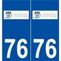 76 Franqueville-Saint-Pierre logo sticker plate stickers city