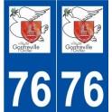 76 Gonfreville-l'Orcher logo autocollant plaque stickers ville
