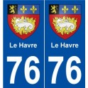 76 The Haven coat of arms sticker plate stickers city