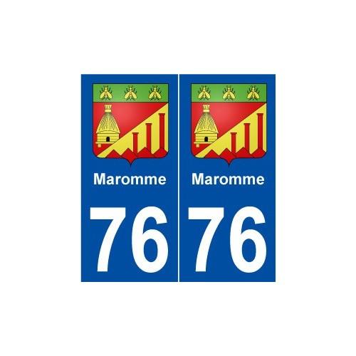 76 Maromme blason autocollant plaque stickers ville