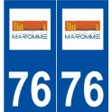 76 Maromme logo sticker plate stickers city