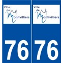 76 Montivilliers logo sticker plate stickers city