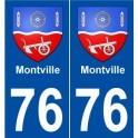 76 Montville coat of arms sticker plate stickers city