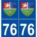 76 Notre-Dame-de-Gravenchon blason autocollant plaque stickers ville