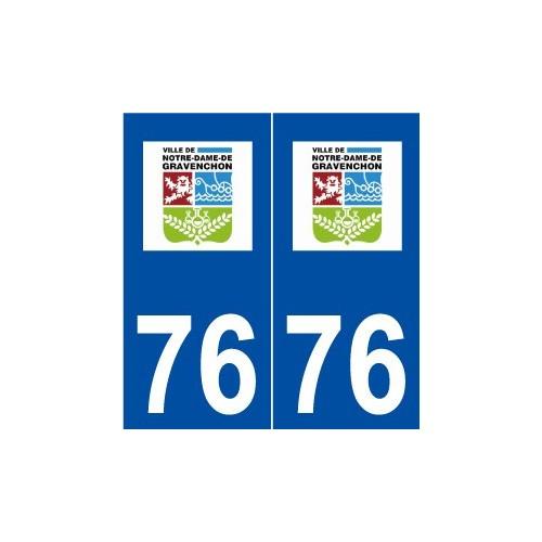 76 notre dame de gravenchon logo autocollant plaque. Black Bedroom Furniture Sets. Home Design Ideas