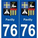 76 Pavilly coat of arms sticker plate stickers city