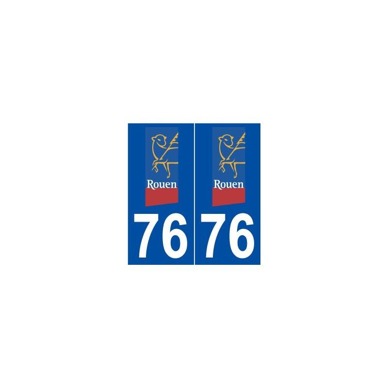 76 rouen logo autocollant plaque immatriculation stickers ville. Black Bedroom Furniture Sets. Home Design Ideas