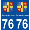 76 Sainte-Adresse blason autocollant plaque stickers ville
