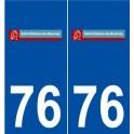 76 Saint-étienne-du-Rouvray logo autocollant plaque stickers ville