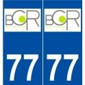 77 Brie-Comte-Robert logo autocollant plaque stickers ville