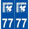 77 Chelles logo sticker plate stickers city