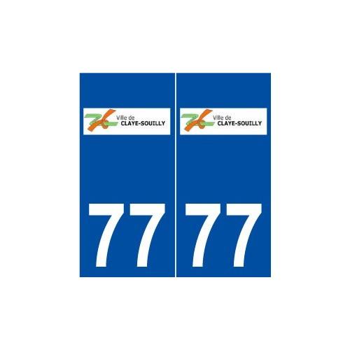 77 Claye-Souilly logo autocollant plaque stickers ville