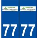 77 Dammartin-en-Goële logo sticker plate stickers city