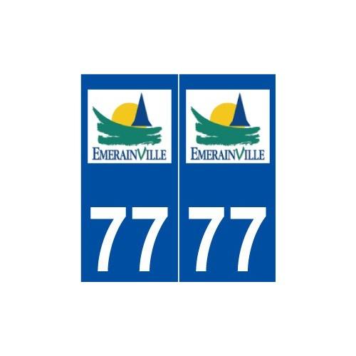 77 Émerainville logo autocollant plaque stickers ville