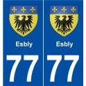 77 Esbly blason autocollant plaque stickers ville