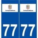 77 Fontainebleau logo autocollant plaque stickers ville