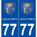 77 Lagny-sur-Marne blason autocollant plaque stickers ville