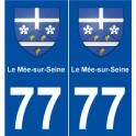 77 Le Mée-sur-Seine blason autocollant plaque stickers ville