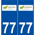 77 Lésigny logo sticker plate stickers city