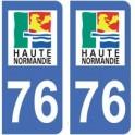76 Seine Maritime sticker plate