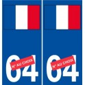 Sticker France flag Decal stickers adhesive Number choice