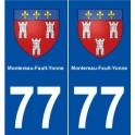 77 Montereau-Fault-Yonne coat of arms sticker plate stickers city