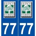 77 Quincy-Voisins logo autocollant plaque stickers ville