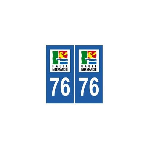 76 Seine Maritime autocollant plaque