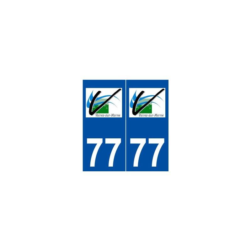 77 vaires sur marne logo autocollant plaque immatriculation stickers. Black Bedroom Furniture Sets. Home Design Ideas