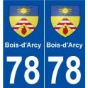 78 Bois-d'Arcy blason autocollant plaque stickers ville
