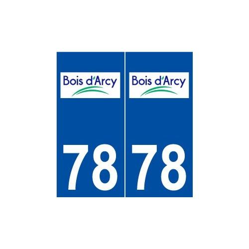 78 Bois-d'Arcy logo autocollant plaque stickers ville