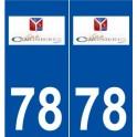 78 Coignières logo sticker plate stickers city