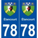 78 Elancourt coat of arms sticker plate stickers city