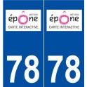 78 Épône logo sticker plate stickers city