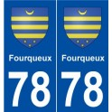 78 Fourqueux coat of arms sticker plate stickers city