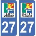 27 Eure autocollant plaque