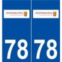 78 Fourqueux logo autocollant plaque stickers ville