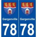 The 78-Gargenville coat of arms sticker plate stickers city