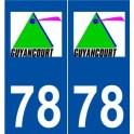 78 Guyancourt logo autocollant plaque stickers ville