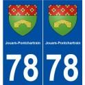 78 Jouars-Pontchartrain blason autocollant plaque stickers ville