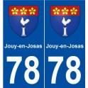78 Jouy-en-Josas coat of arms sticker plate stickers city
