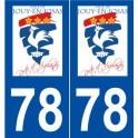 78 Jouy-en-Josas logo autocollant plaque stickers ville