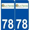 78 The Perray-en-Yvelines logo sticker plate stickers city