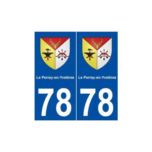 78 Le Perray-en-Yvelines blason autocollant plaque stickers ville