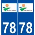 78 Magny-les-Hameaux logo autocollant plaque stickers ville