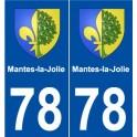78 Mantes-la-Jolie blason autocollant plaque stickers ville