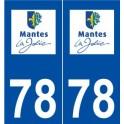 78 Mantes-la-Jolie logo sticker plate stickers city
