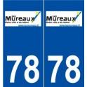 78 Mureaux logo autocollant plaque stickers ville