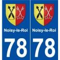 78 Noisy-le-Roi blason autocollant plaque stickers ville